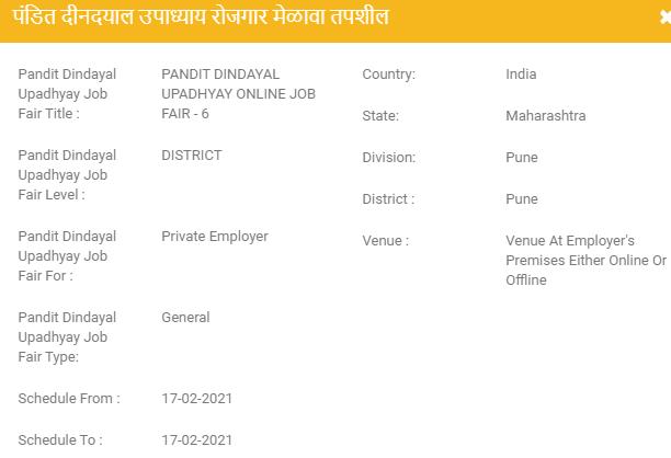 Pune Job Fairs 2021